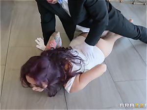 Monique Alexander riding hard on top