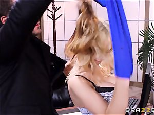 Sarah Vandella caught being crazy in the office