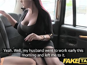 fake taxi assistant girl with immense mounds and raw cunny