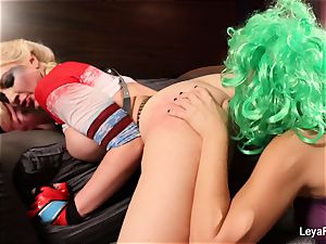 Whorley Quinn Leya gets humped hard by She Joker Nadia