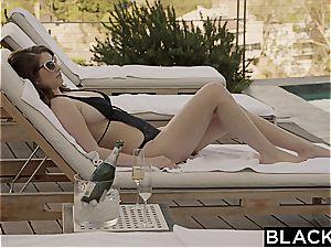 Karina white cheats with big black cock on vacation