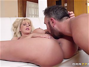 Mean mommy Ryan Conner fucks her daughters-in-law phat dicked guy