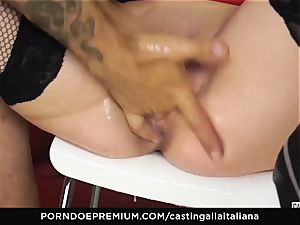 audition ALLA ITALIANA - big-boobed dark-haired likes moist ass fucking