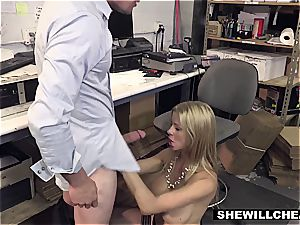 SheWillCheat - chesty milf manager plumbs new worker