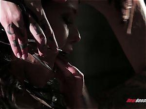 lesbian domina manhandling her victim