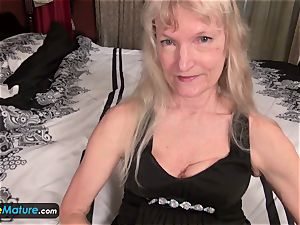 EuropeMature aged grandma Cindy gone too naughty