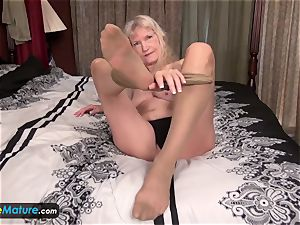 EuropeMature aged grandma Cindy gone too naughty