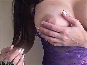 SunnyLeone Sunny Leone in super-sexy purple lingerie