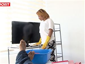 LETSDOEIT - teenager Latina Maid point of view torn up By a big black cock