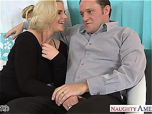 hot wifey Phoenix Marie gets rosy vagina ravaged