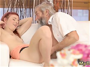huge old s tonguing sudden experience with an senior gent