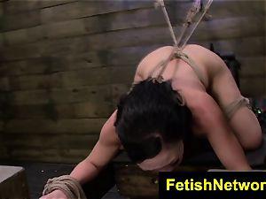 FetishNetwork Nikki Bell dungeon space restrain bondage