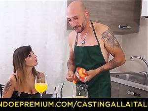 casting ALLA ITALIANA - super-steamy Italian minx gets deep rectal