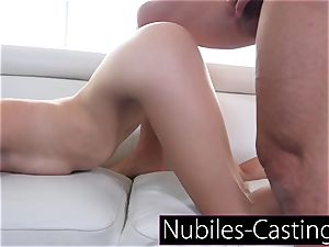 Piper Perri casts first time hardcore for little nubile