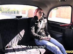 fake cab virginal teenager takes gigantic fat salami