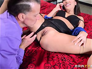Kalina Ryu pounded by her manager as she talks to her bf