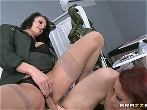 Alektra Blue and Monique Alexander put a soldier thru his paces
