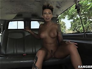 big butt Bella Bellz is on the BangBus