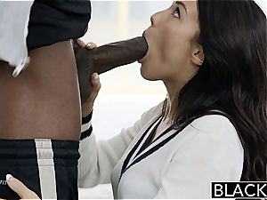 BLACKED Megan Rains first experience With meaty ebony man meat Part 1
