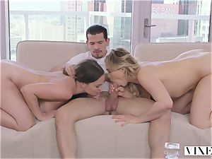 Lily love and Mia Malkova in a stellar three way