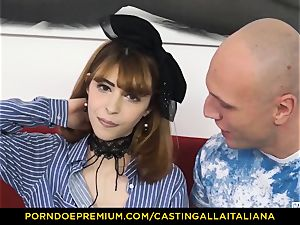 casting ALLA ITALIANA - bony honey takes trouser snake like pro