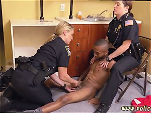 first-timer milf threesome and counterpart chum s sisters dark-hued masculine squatting in home gets our