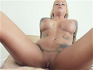 tattooed ultra-cutie Britney Shannon gets penetrated by her boyfriend acquaintance