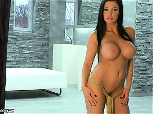 Aletta Ocean molten phat titties woman naked at the stairs