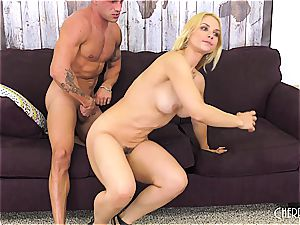 Sarah Vandella bangs on cam and playthings her gash to orgasm