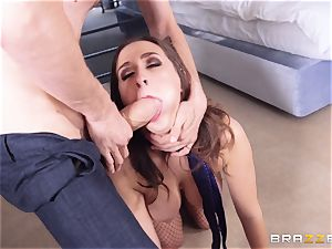Ashley Adams hankers that monster pecker deep inwards