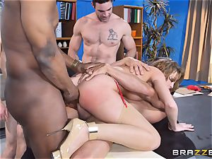 Britney Amber getting group drilled