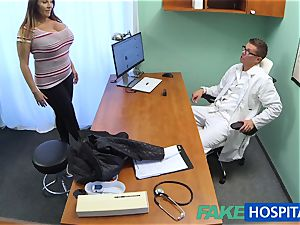 FakeHospital babe wants cum all over her fat large funbags