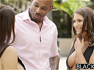August Ames and Valentina Nappi share big black cock