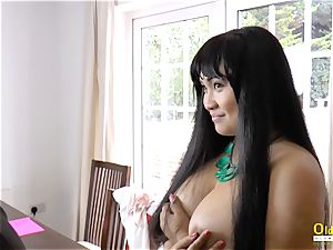 OldNannY Lacey Starr and Polynesian lesbian