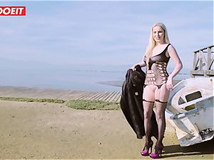 LETSDOEIT - blonde Thot pounded rock-hard By the Beach