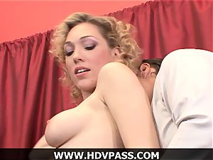 ash-blonde housewife Lily luvs HD suck off and from the rear