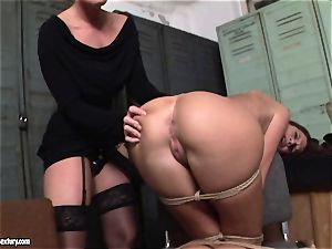 Kathia Nobili lets a super-steamy female inhale her wire on