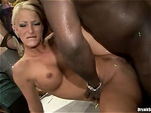 Bibi Fox with beauty mates packed with super-hot cum