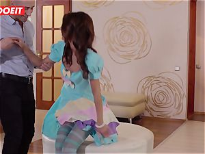 LETSDOEIT - kinky couple drills Before Going for Dinner