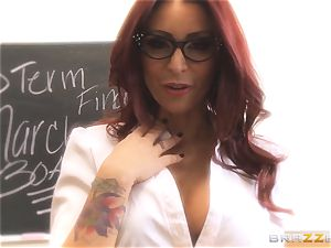 Mick Blue daydreaming in class about his instructor Madison Ivy
