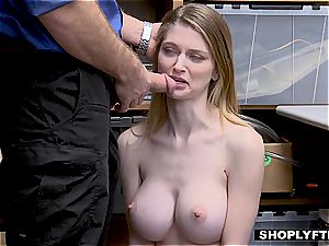 She helps herself to his stuff, he helps himself to her pussy
