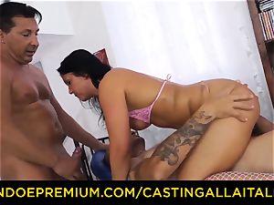 casting ALLA ITALIANA - daring minx experiences utter double penetration