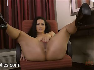 Katrina Jade bends over and gives you a display