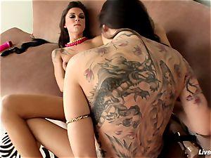 LiveGonzo Chayse & Sophia fleshy playing lesbians Stickin