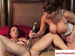 Ava Devine and Brandi May play with their lezzy playthings
