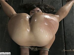 chubby brazilian skimpy damsel is prepped for anal sadism & masochism