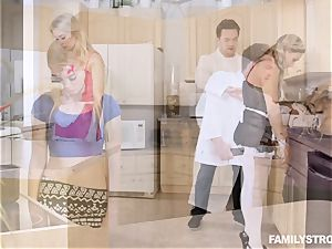 Scientific kitchen penetrate with Anastasia Knight and Tucker Stevens